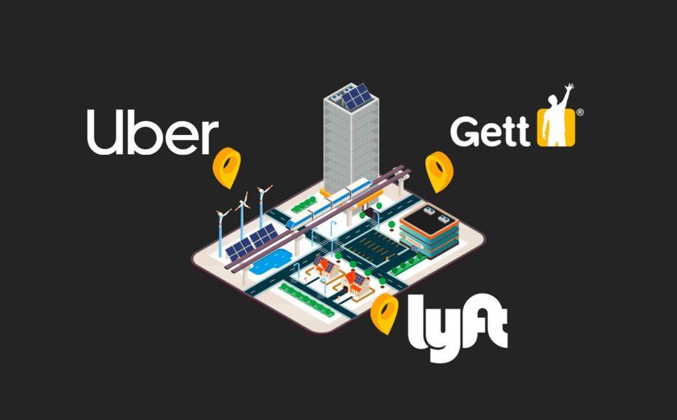 Lyft Uber and Gett