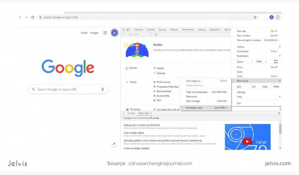 Google Chrome tools