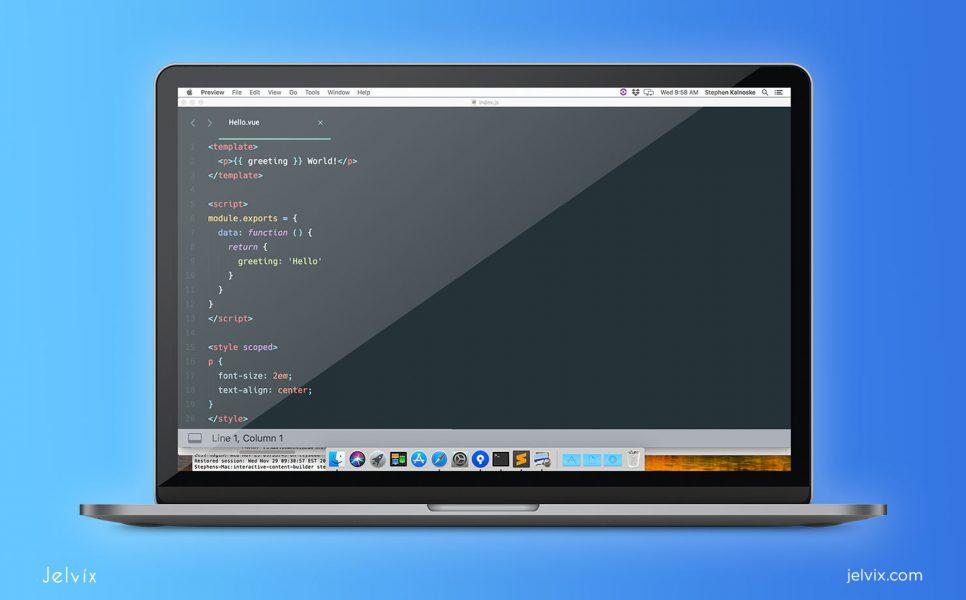 Vue.js code