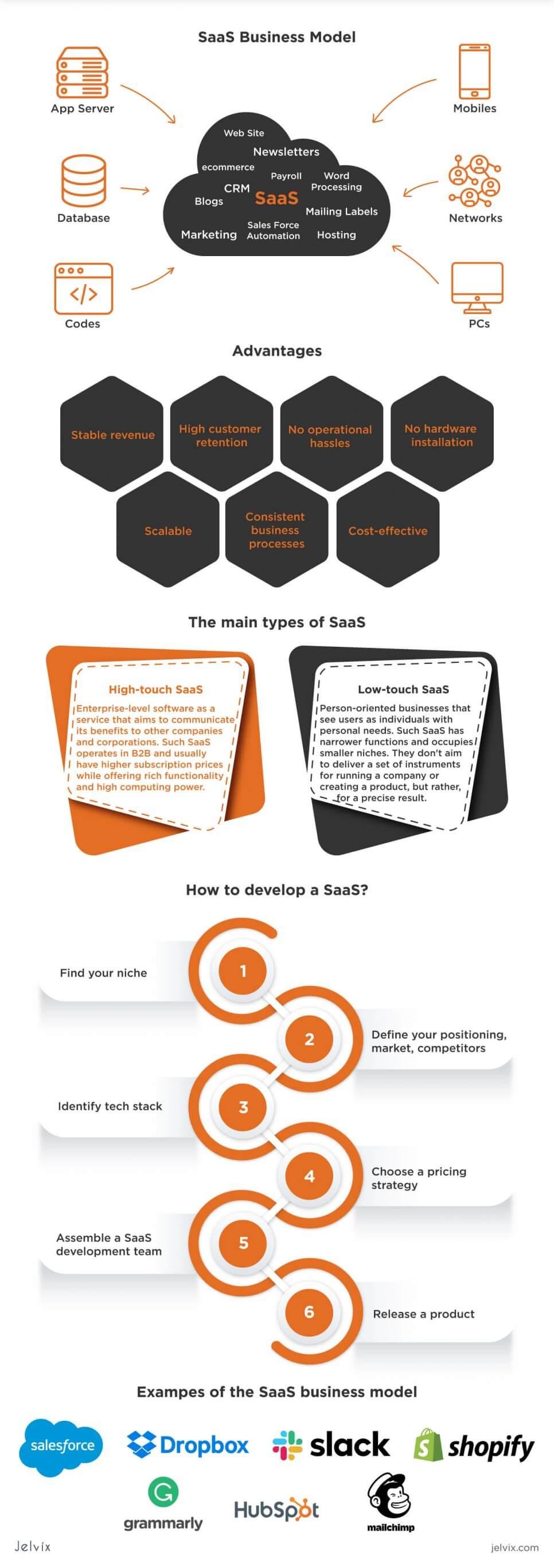 Saas model infographic