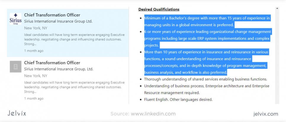 desired qualifications
