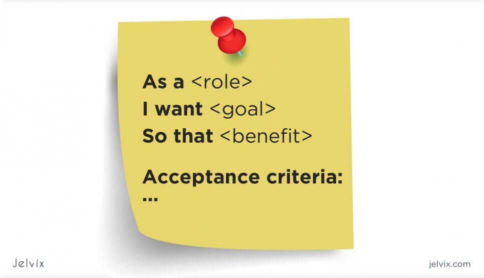 list of acceptance criteria